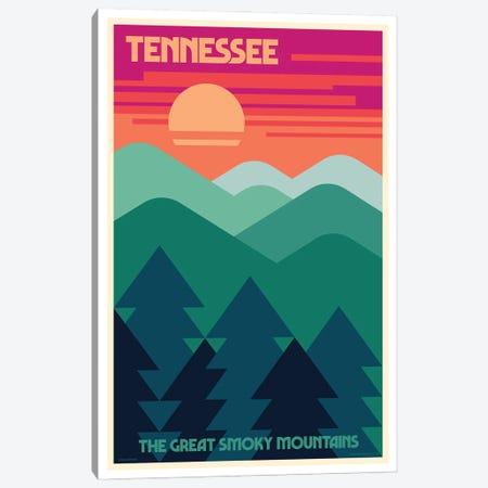 Tennessee Retro Travel Poster Canvas Print #JZA72} by Jim Zahniser Canvas Art Print
