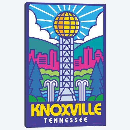 Knoxville Pop Art Travel Poster Canvas Print #JZA76} by Jim Zahniser Canvas Art