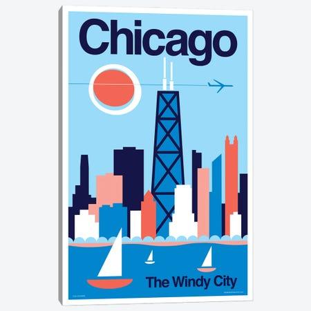 Chicago Minimalist Travel Poster Canvas Print #JZA79} by Jim Zahniser Canvas Print