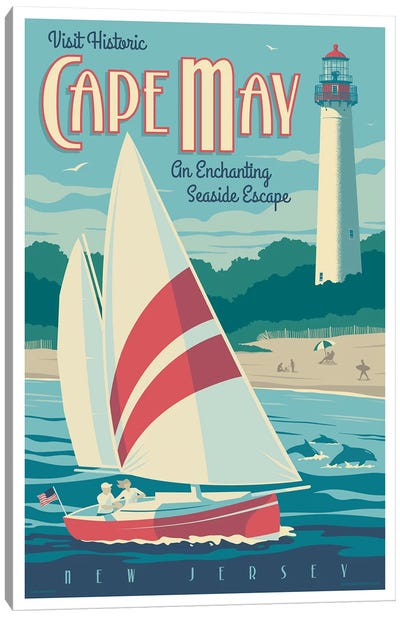 Cape May Travel Poster Canvas Art Print