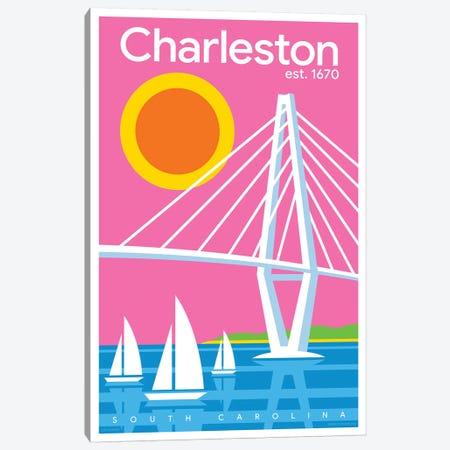 Charelston Modern Travel Poster Canvas Print #JZA8} by Jim Zahniser Canvas Art
