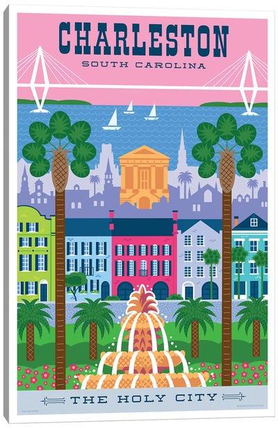 Charelston Travel Poster Canvas Art Print