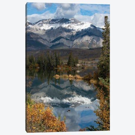 Canada, Alberta. Autumn reflections at Talbot Lake, Jasper National Park. Canvas Print #JZI10} by Judith Zimmerman Canvas Art Print