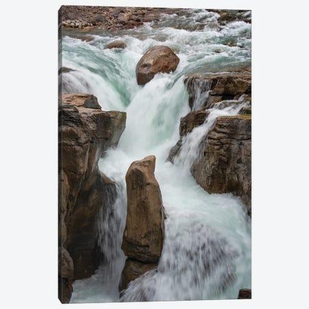 Canada, Alberta. Sunwapta Falls detail, Jasper National Park. Canvas Print #JZI11} by Judith Zimmerman Canvas Print