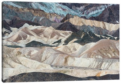 USA, California. Twenty Mule Team Canyon, Death Valley National Park. Canvas Art Print