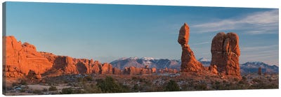 USA, Utah. Balanced rock at sunset, Arches National Park. Canvas Art Print