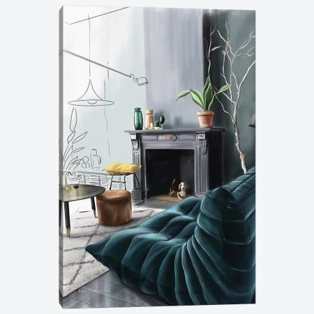 In The Living Room Canvas Print #KAA16} by Kate Andryukhina Canvas Art