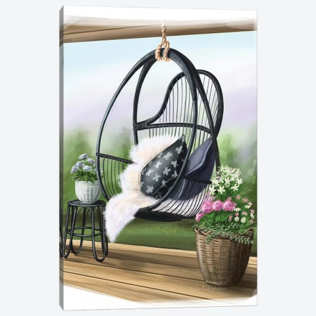 Swing Chair Canvas Print #KAA23} by Kate Andryukhina Canvas Wall Art