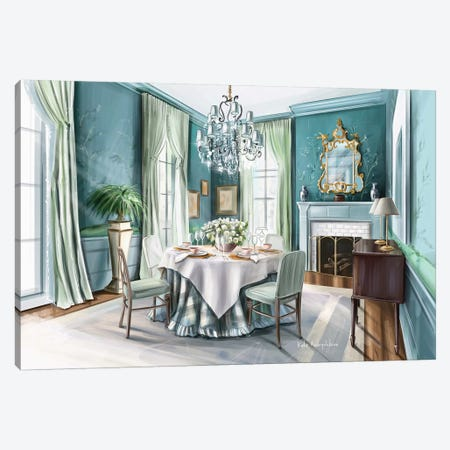 Classic Interior Canvas Print #KAA25} by Kate Andryukhina Art Print