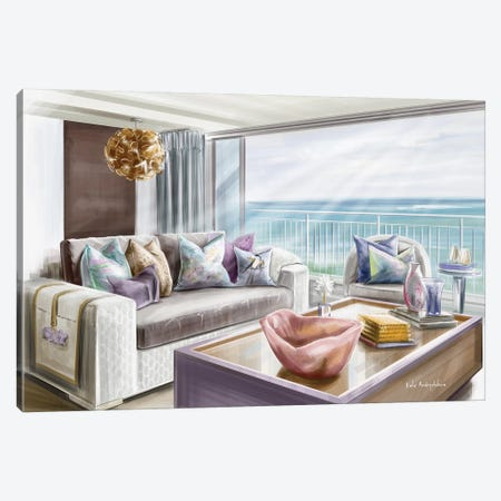 A Beautiful View On The Sea Canvas Print #KAA2} by Kate Andryukhina Canvas Wall Art