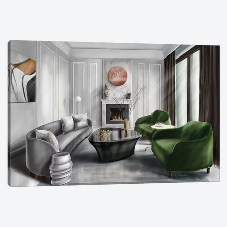 A Classic Style Living Room Canvas Print #KAA3} by Kate Andryukhina Canvas Wall Art