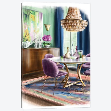 A Dining Area In A House Canvas Print #KAA4} by Kate Andryukhina Canvas Print