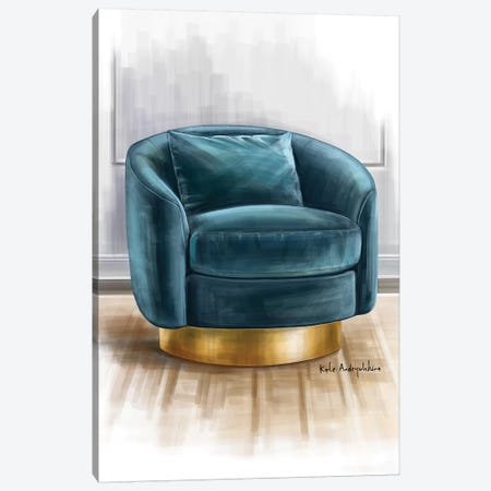 A Velvet Chair Canvas Print #KAA8} by Kate Andryukhina Canvas Wall Art