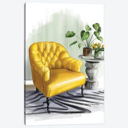 A Yellow Armchair Canvas Print #KAA9} by Kate Andryukhina Canvas Art