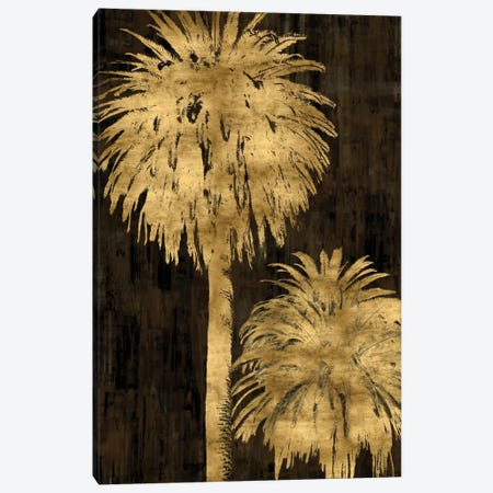 Golden Palms Panel I Canvas Print #KAB16} by Kate Bennett Art Print