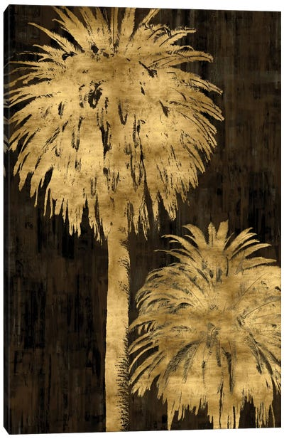 Golden Palms Panel I Canvas Art Print