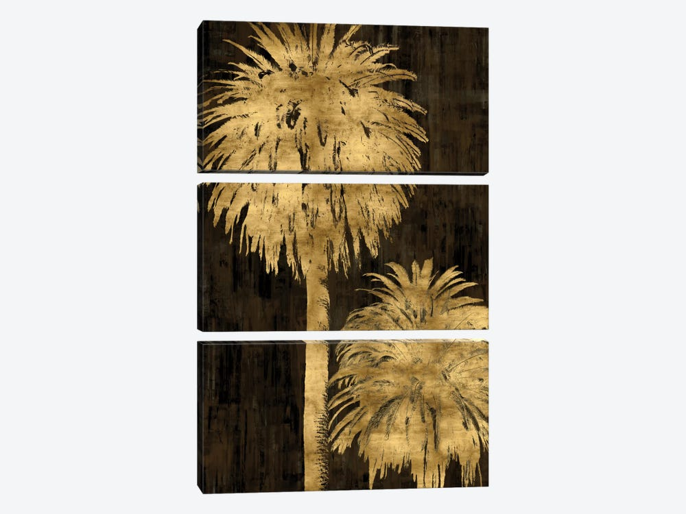 Golden Palms Panel I by Kate Bennett 3-piece Canvas Artwork