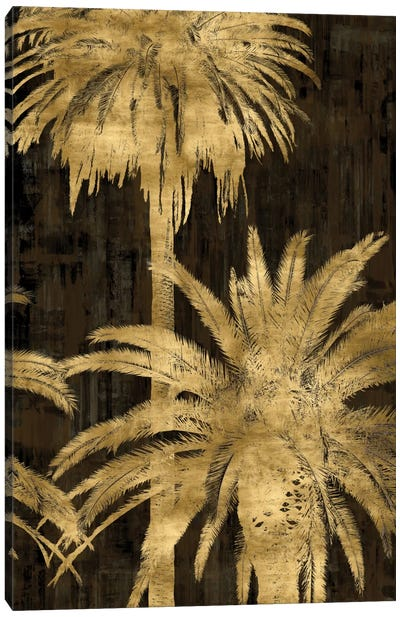 Golden Palms Panel II Canvas Art Print
