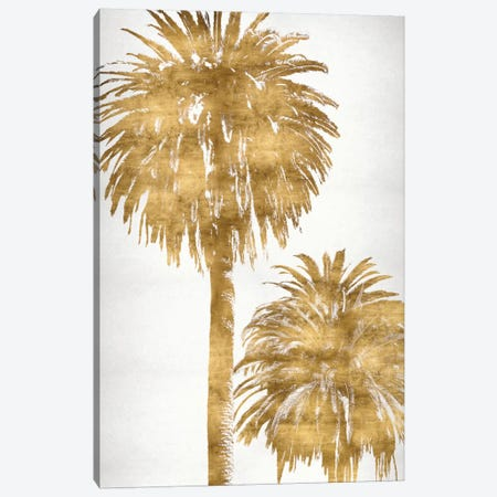 Golden Palms Panel III Canvas Print #KAB18} by Kate Bennett Canvas Wall Art