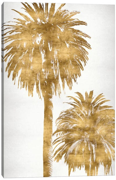 Golden Palms Panel III Canvas Art Print