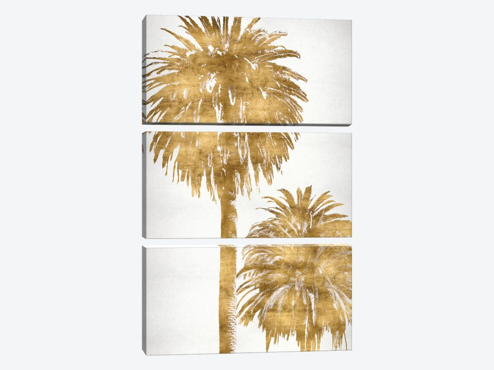 Golden Palms Panel III by Kate Bennett 3-piece Canvas Artwork
