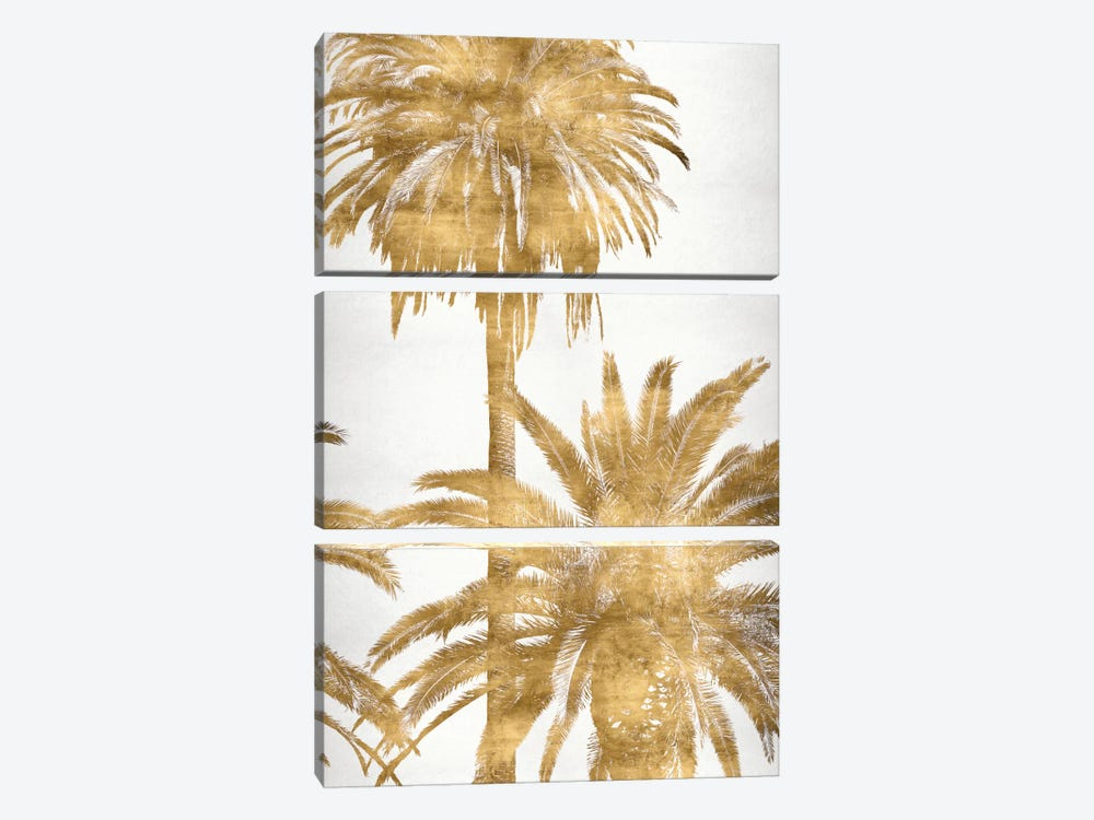 Golden Palms Panel IV by Kate Bennett 3-piece Art Print