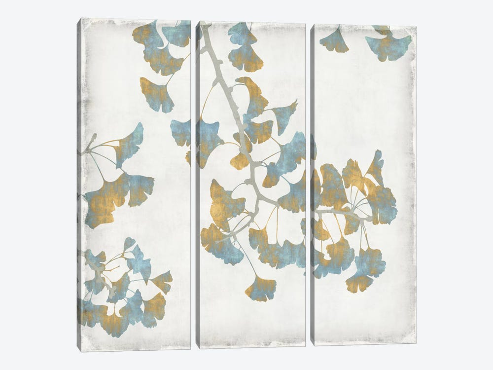 Ginkgo Branches I by Kate Bennett 3-piece Canvas Art