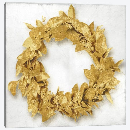 Golden Wreath I Canvas Print #KAB22} by Kate Bennett Canvas Art Print