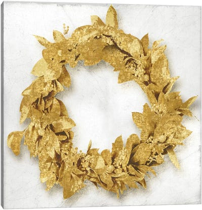 Golden Wreath I Canvas Art Print