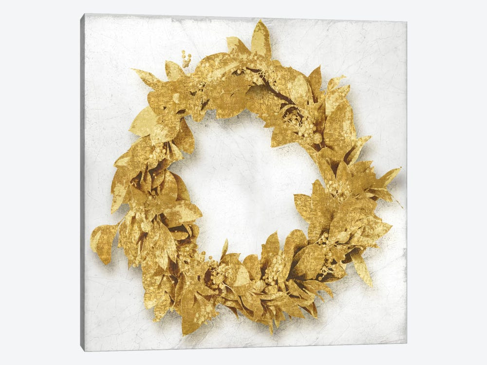 Golden Wreath I by Kate Bennett 1-piece Canvas Print