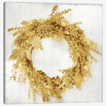 Golden Wreath II Canvas Print #KAB23} by Kate Bennett Canvas Print