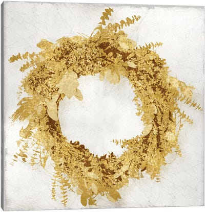 Golden Wreath II Canvas Art Print