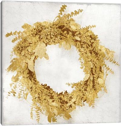 Golden Wreath II Canvas Art Print