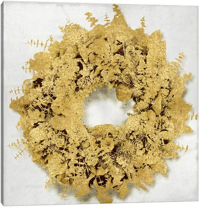 Golden Wreath III Canvas Art Print