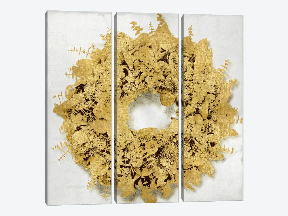 Golden Wreath III by Kate Bennett 3-piece Art Print