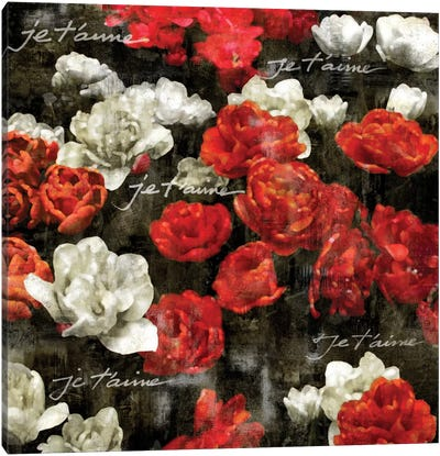 Je Taime Roses Canvas Print #KAB26
