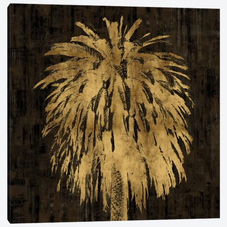 Palms In Gold I Canvas Print #KAB27} by Kate Bennett Canvas Art