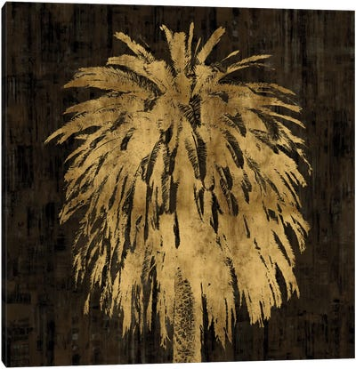 Palms In Gold I Canvas Art Print