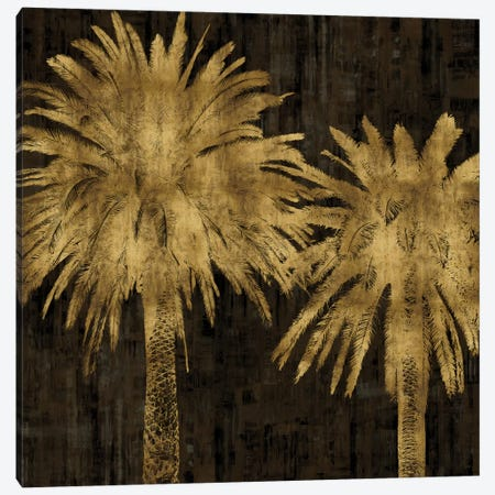 Palms In Gold II Canvas Print #KAB28} by Kate Bennett Art Print