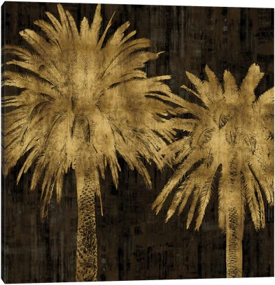 Palms In Gold II Canvas Art Print
