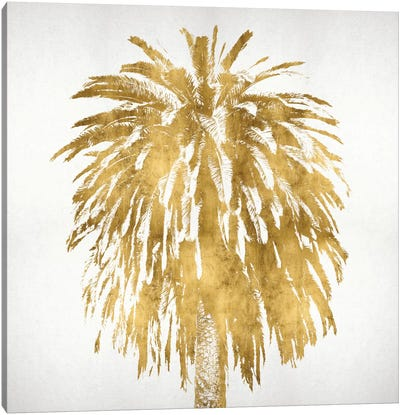 Palms In Gold III Canvas Art Print