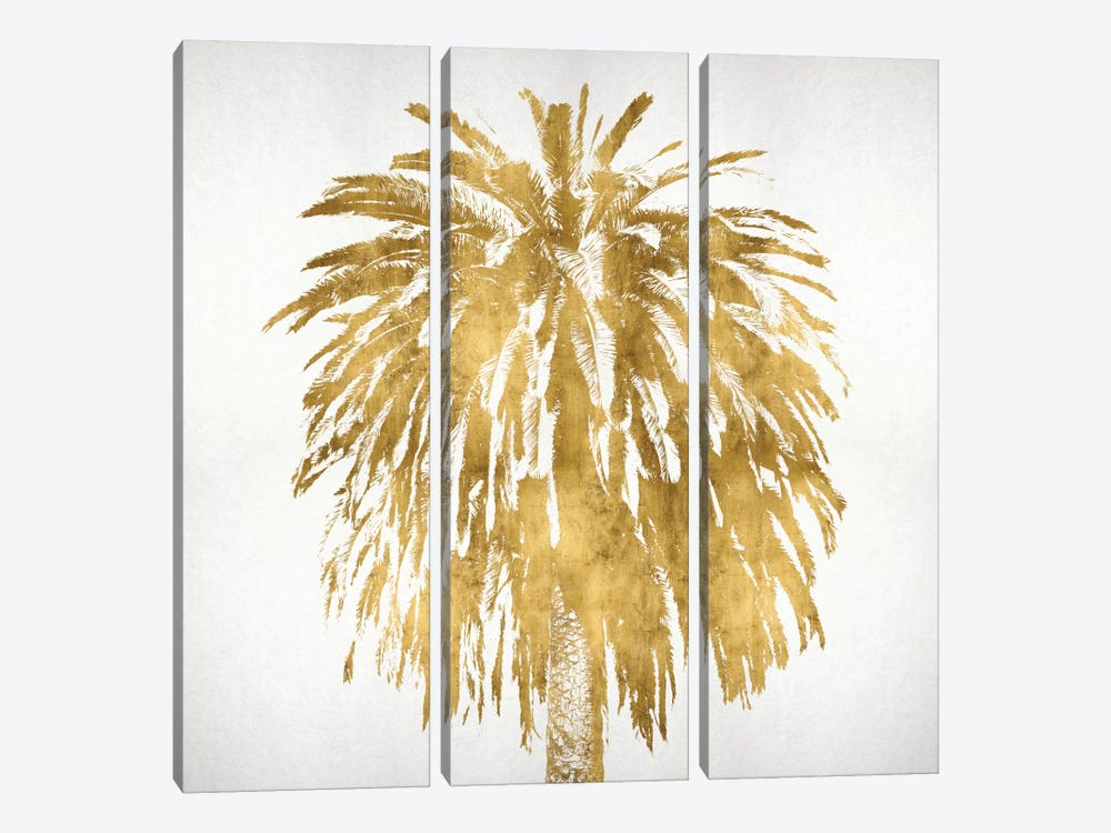 Palms In Gold III by Kate Bennett 3-piece Canvas Wall Art