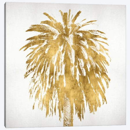 Palms In Gold III 3-Piece Canvas #KAB29} by Kate Bennett Canvas Art Print