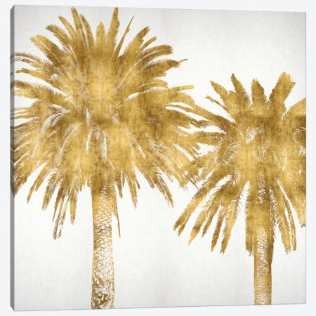 Palms In Gold IV Canvas Print #KAB30} by Kate Bennett Canvas Art