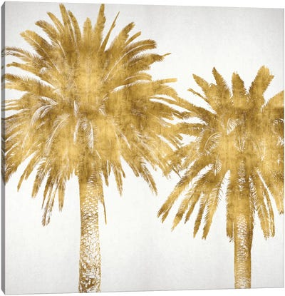 Palms In Gold IV Canvas Print #KAB30