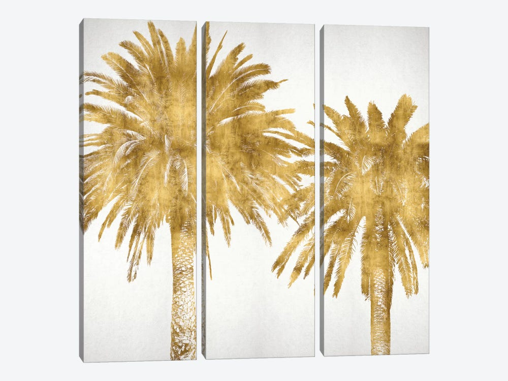 Palms In Gold IV by Kate Bennett 3-piece Canvas Artwork
