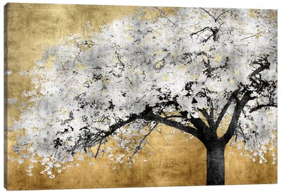 Silver Blossoms Canvas Art Print