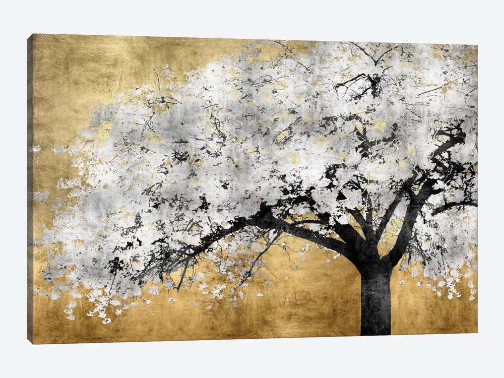 Silver Blossoms by Kate Bennett 1-piece Canvas Print