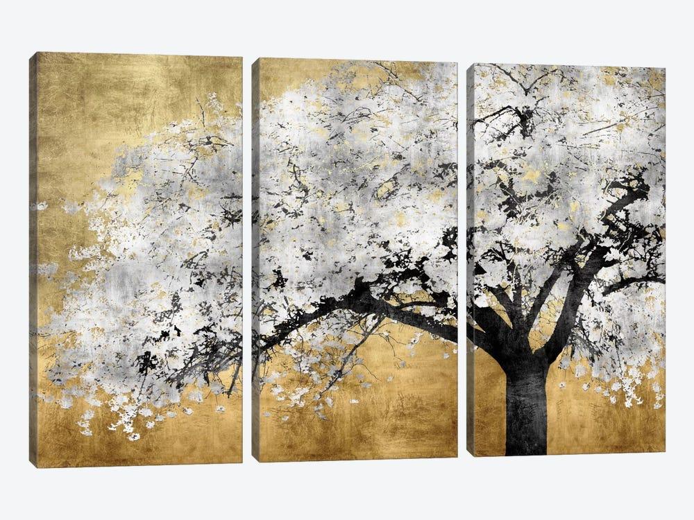 Silver Blossoms by Kate Bennett 3-piece Art Print
