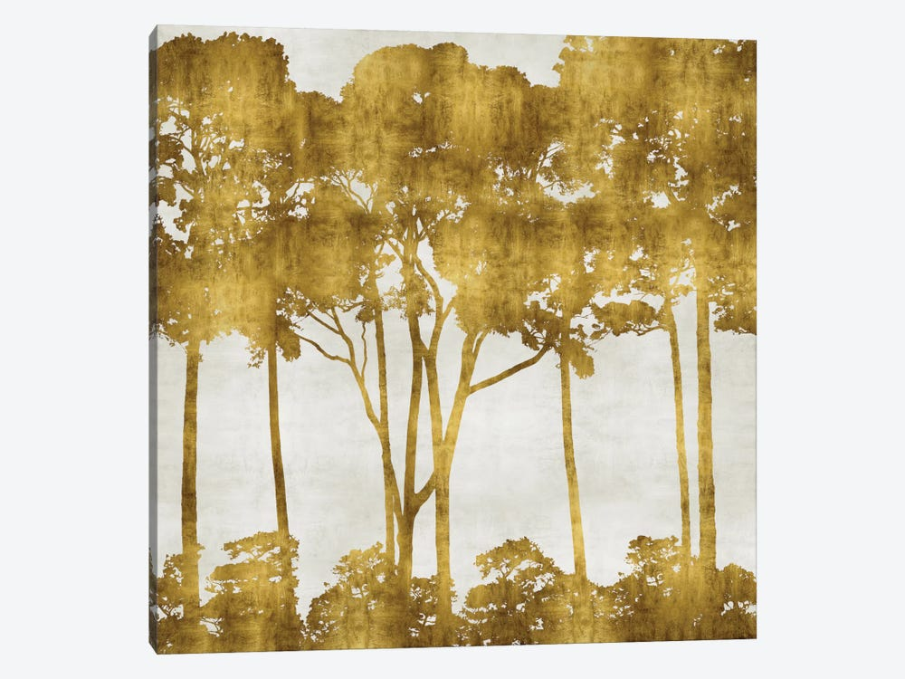 Tree Lined In Gold I by Kate Bennett 1-piece Canvas Wall Art